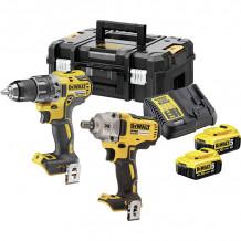 Tööriistakomplekt (DCD791 + DCF894); 18 V; 2x5,0 Ah aku DCK2077P2T-QW DeWALT