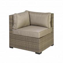 Moduļa dīvāns SEVILLA ar spilveniem, stūris, 76,5x76,5xH74,5cm cappuccino, 11916, HOME4YOU