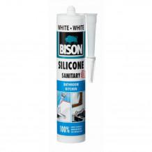 Sanitārais Silikons Silicone Sanitary balts 280ml 1591318 BISON