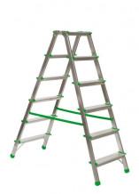 Divpusējās mājsaimniecības kāpnes 2x5 pakāpieni 000289 CITS