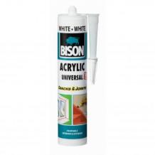 Akrila Hermētiķis Acrylic Universal balts 300ml 1591234 BISON