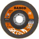 Kroonlehine lihvketas INOX + Fe P60 125x22,23mm 3926-125IM-C60 BAHCO
