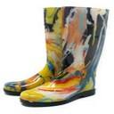 Naiste värvilised PVC saapad, kõrgus 32cm, suurus 35