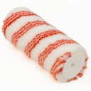 Värvirull 18cm Ø54mm, 12mm, polüamiid, 3 punased triibud