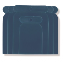 Špakteļlāpstiņu komplekts, plastmasas (4gab.)