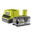 Akumulators + lādētājs 18V 1x 5.0Ah RC18120-150 RYOBI