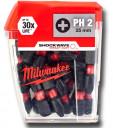 Uzgaļu komplekts, PH2, 25Gab. 25mm, 4932430853, MILWAUKEE